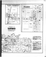 Lovett Township, Paris Crossing, Paris, Lovett, Commiskey Sta., Weston, Poplar Corners - Right, Jennings County 1884